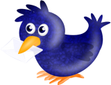 Fridolin verteilt den Autoren-Newsletter
